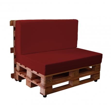 Sofas con palets con fundas de loneta kalle muebles - Fundas para sofas con cheslong ...