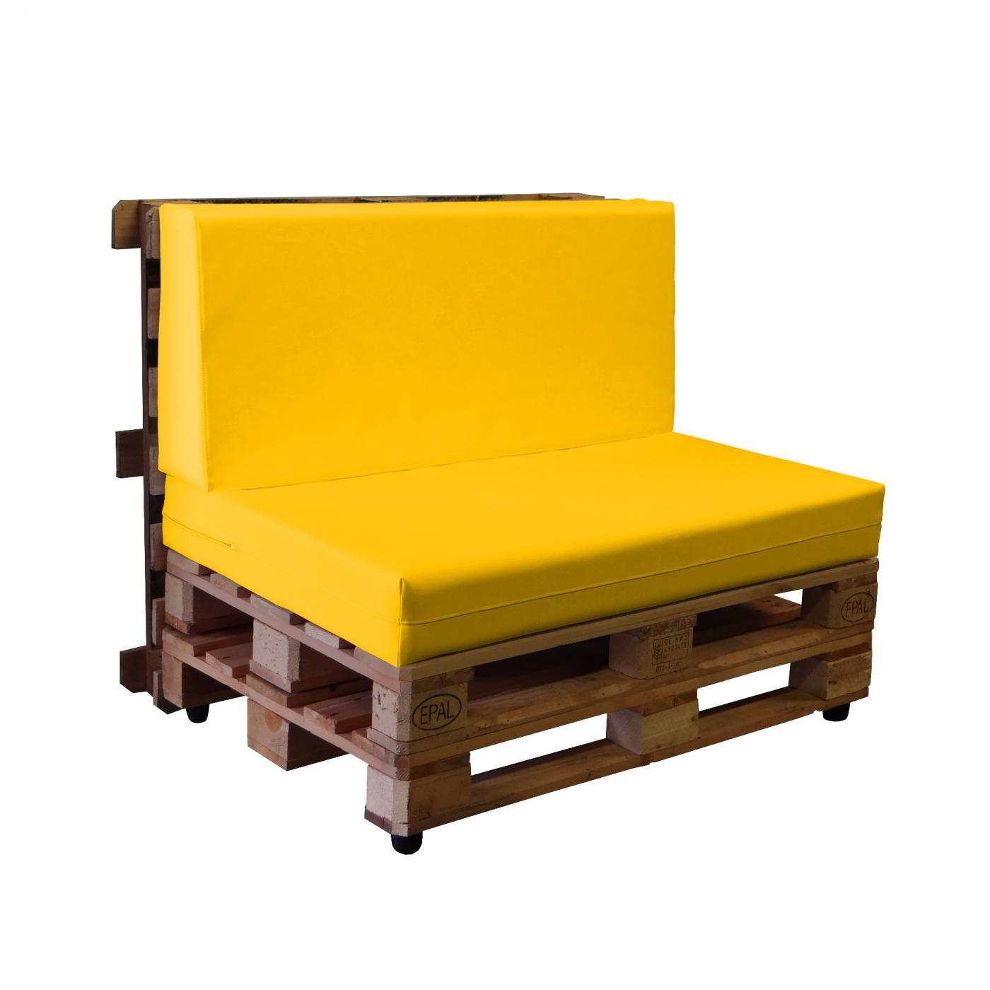 Sof de palets con fundas de polipiel n utico muebles - Fundas a medida para sofas ...