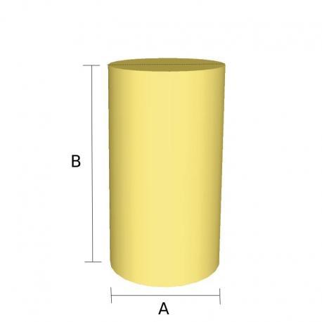 Pieza cilindro de goma espuma cortada a medida - Espuma a medida ...