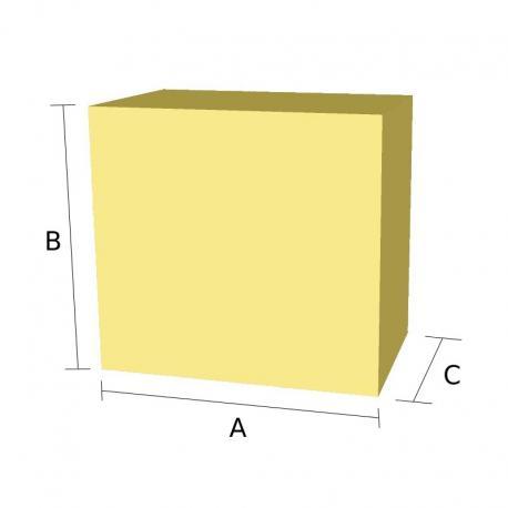 826347a8fec Pieza recta de goma espuma de forma cuadrada o rectangular