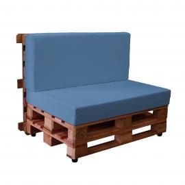 Sofá de palets con fundas de loneta TAHITI (Para Interior)