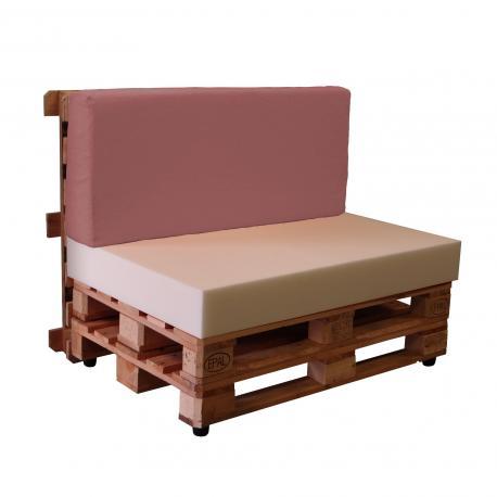 Sofá palet con fundas de loneta TAHITI